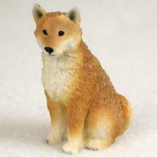 Shiba Inu Dog Tiny One Miniature Small Hand Painted Figurine