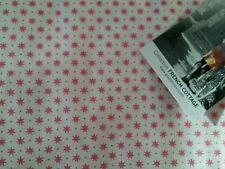 Gutermann French Cottage red stars design 100%cotton, half metre, free p&p,