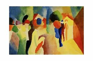 August Macke - With a Yellow Jacket 1913 Print 61x91.5cm