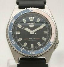 Rare Vintage Seiko 5 10BAR Pepsi 17J Automatic 7002 7010 Japan Men's Diver Watch