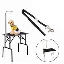 New listing Pet Dog Cat Grooming Table Arm Bath Adjustable Restraint Rope Harness Noose Loop