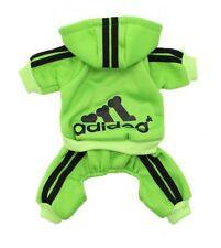 Adidog Pet Clothes for Dog Cat Puppy Hoodies Winter Coat Warm Sweatshirt L Green