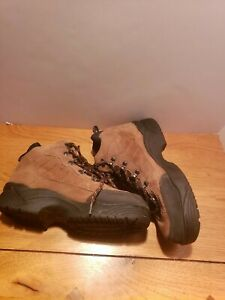 REDHEAD Hiking Boots Brown Suede Leather with Black Rubber Soles Size M6/W8