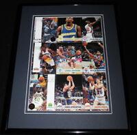 1993 NBA Hoops Framed Uncut Card Sheet w/ Chris Webber RC & Shaquille O'Neal