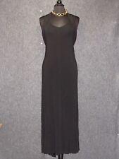 GIANFRANCO FERRE Black Stretch Sleeves Maxi Dress SZ 44