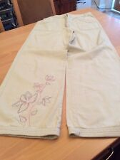 girls clothes 13 years John Rocha Tan Cotton Embroidered Jeans Trousers
