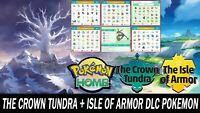 The Crown Tundra & Isle of Armor DLC Pokemon Pack All Pokemon Shiny!!