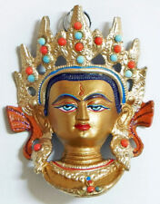 **Beautiful** Painted Maitreya Buddhist Hindu Wall Plaque 12.5cm