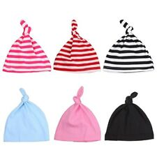 df22b23bf5c HOT Newborn Baby Unisex Beanie Knotted Cotton Hat Soft Cap Infant Toddle Hat