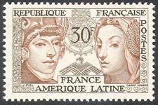 FRANCIA 1956 DONNE/FRANCO-America Latina Amicizia/cooperazione 1 V (n33119)