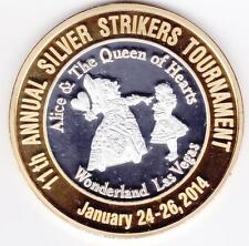 2014 Four Queens Alice & Queen of Hearts 1/4 troy lb .999 Fine Silver GP