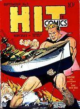 Hit Comics #3 Photocopy Comic Book Hercules, The Red Bee, Neon, Strange Twins