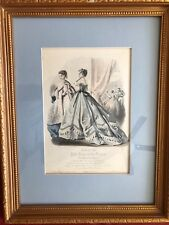 Antique Victorian Petit Courrier des Dames Modes of Paris 1800-1899 Lithograph