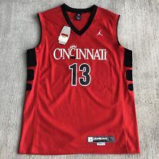 NWT University Of Cincinnati Bearcats Basketball Jersey Jordan Authentic #13