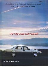 Saab CD Car 1988 Magazine Advert #2934
