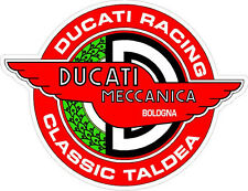 "#k102 3"" Ducati Meccanica Racing Classic Vintage Decal Sticker LAMINATED Red"