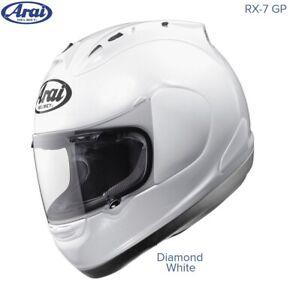#ARAI RX-7 GP MOTORCYCLE HELMET - DIAMOND WHITE - MEDIUM - EXCEL COND - £254.99
