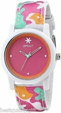 NEW-SPROUT PINK DIAL MULTI COLOR ORGANIC STRAP,WHITE RESIN CASE,ST/5528PKCO