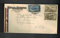 1936 Hotel Geneve Mexico City Airmail cover to USA