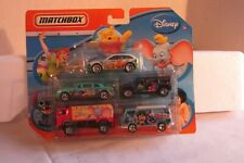 NEW Matchbox Disney 5 Pack Diecast Cars Pooh Stitch Dumbo Peter Pan Jungle Book
