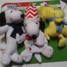 Holiday Peanuts Plush Toys…3 piece Set