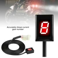 Red LED Digital Motorcycle Gear Indicator Speedometer Shift Lever For Kawasaki
