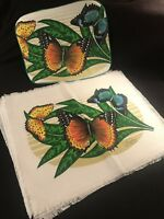 Set of 4 Placemats and Hot Pad ~Screen Print~  Placemats From St.Lucia