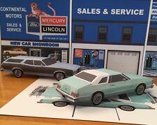Papercraft 1977 Mercury Cougar XR7 coupe PaperCar E Z U-build ToyModelCar