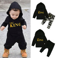 Toddler Newborn Baby Boy Hooded Tops Pants Camo Outfits Set Clothes Tracksuit