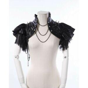 Steampunk Gothic Punk Rave Burlesque Cosplay Shoulder Bolero Jacket