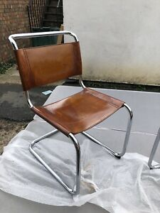 Vintage Bauhaus Modernist S33 Leather Cantilever Chair By Mart Stam For Fasem