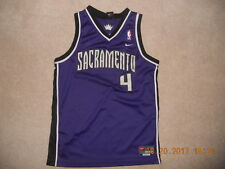 Sacremento Kings NBA Basketball Jersey #4 Chris Webber C-Webb Sewn Youth XL Purp