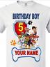 Paw Patrol Birthday Boy/GIRL Personalized  T SHIRT happy birthday