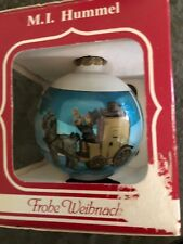 MI Hummel Christmas Ornament The Mail is Here 5th Annual 1987 Horse Wagon box