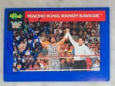 """Macho King"" Randy Savage Vintage Signed 1991 WWF Classic Card #84 Wrestling HOF"