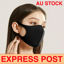 Face Mask..Washable Black Mouth Mask Breathable Windproof Now In Stock