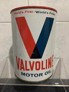 Vintage Valvoline Motor Oil Petrol Tin