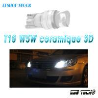 Ampoule T10 W5W LED 3D 194 ESS TECH® Lampe Blanc 6500K Style neon 2X ceramique