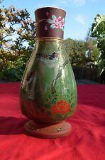 Vintage old  Japanese  Japan  Birds flowers  Vase  ORNATE SIGNED
