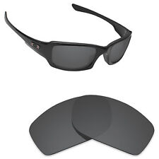 Hawkry Polarized Replacement Lenses for-Oakley Fives Squared Stealth Black