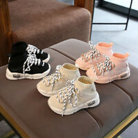 Child Kids Baby Boys Girls Casual Outdoor Sport Running Breathable Sneaker Shoes