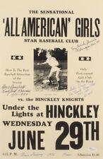 Gertie Dunn, Marie Mansfield & Kay Blumetta Signed All American Girls Poster