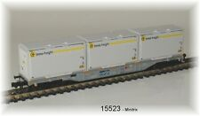 15523 Minitrix - Four-Axle container-flat Car Designed sgnss NIP
