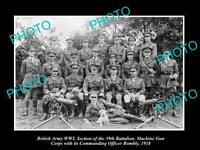 OLD HISTORIC PHOTO OF BRITISH ARMY WWI, 39th BATTALION MACHINE GUN CORPS c1918 1