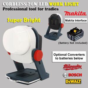 20W LED Work Light with Makita Batteries Socket Optional Milwaukee Bosch Dewalt