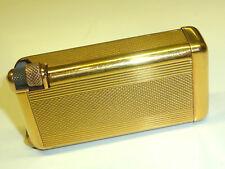 """QUERCIA Flaminaire """"Crillon"""" Pocket gaz Brass lighter briquet - -1948 - France"""