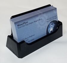 (1) Black Acrylic (Styrene) Business Card Holders * Free Shipping!