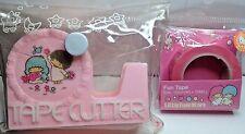 Vintage 1976 Sanrio Little Twin Stars tape cutter w/Pink L.Twin Stars Tape Roll