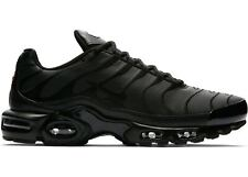 "Nike Air Max Plus TN ""TRIPLE BLACK"" Leather Mens Sneakers AJ2029-001 DOUBLE BOXD"