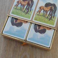 CONGRESS Cel-U-Tone Finish Horse Print Playing Cards Dual Deck Set